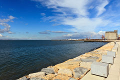 Landscape of the Tejo river. Royalty Free Stock Photo