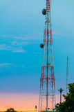 Landscape of The telephone transmitter  with beautiful tropical Stock Photos
