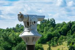 Telescope at an observation point Royalty Free Stock Photo