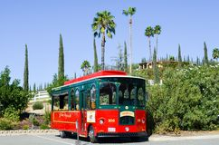 Landscape in Temecula California with a Trolley Royalty Free Stock Image