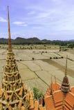 Landscape temple kanchanaburi, thailand Stock Photo