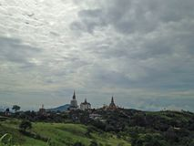 Landscape. The temple in Thailand Royalty Free Stock Photography