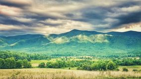 Landscape in Tennessee.   Mountain range.   Nature& x27;s beauty stock photography