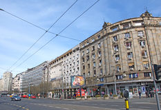 Landscape of Terazije, the central square in Belgrade downtown Stock Photo