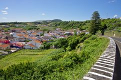Landscape in Terceira, Agualva. Azores. Portugal Royalty Free Stock Photo