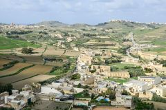 Landscape of terraced fields at island Gozo, Malta. Landscape of terraced fields at island Gozo on Malta Stock Images