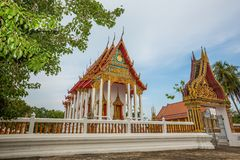 Thai temple, Wat Bang Pla - Samut Sakhon, Thailand. Landscape of Thai temple, Wat Bang Pla - Samut Sakhon, Thailand royalty free stock photography