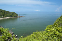 Landscape of Thailand gulf. Chantaburi,Thailand royalty free stock photo
