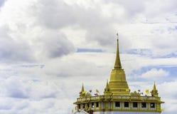Landscape of Thailand's gold pagoda landmark, at Wat Sraket in Bangkok Stock Photo