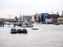 Landscape of Thames river in London, UK Royalty Free Stock Photography