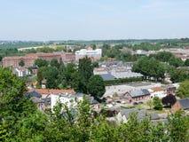 Landscape of Thiérache. View of the familistère de Guise France Royalty Free Stock Photo