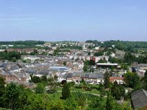 Landscape of Thiérache. View of town of Guise in Aisne France Stock Photo
