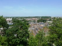 Landscape of Thiérache. Village of Guise France Royalty Free Stock Photo