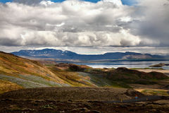 Landscape with Thingvallavatn lake Royalty Free Stock Photography