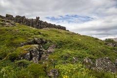 Landscape in Thingvellir Stock Images