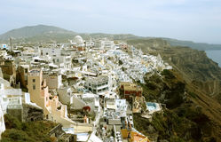 Landscape in Thira. Stock Photos
