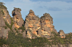 Landscape of The Three Sisters rock formation in the Blue Mounta Royalty Free Stock Photos