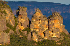 Landscape of The Three Sisters rock formation in the Blue Mounta Stock Photography