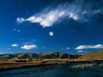 Landscape in Tibet Stock Photography