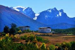 Landscape on tibetan plateau Stock Image