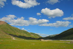 Landscape on Tibetan Plateau Royalty Free Stock Images