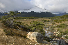 Landscape of Tierra Del Fuego stock images