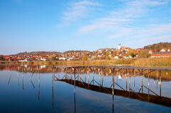 Landscape of Tihany in autumn at Lake Balaton Royalty Free Stock Photo