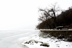 Landscape of Tihany at Lake Balaton in winter time Stock Photos