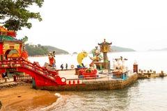Landscape of Tin Hau Temple Repulse Bay in Hong Kong. Hong Kong - May 20, 2017, Editorail use only; Landscape of Tin Hau Temple Repulse Bay in Hong Kong Stock Image