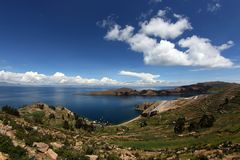 Landscape of Titicaca Stock Photography