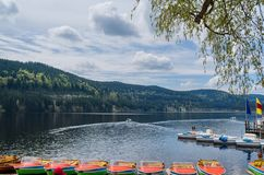 Landscape of titisee lake in German stock photos
