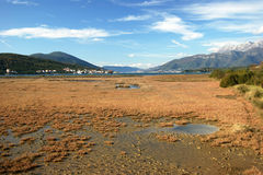 Landscape in Tivat saline Royalty Free Stock Images