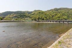 Landscape of Togetsukyo Bridge Royalty Free Stock Images
