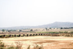 Landscape in Toko near lake Volta in the Volta Region in Ghana Royalty Free Stock Photo