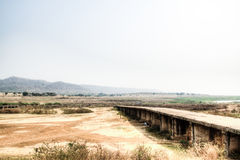 Landscape in Toko near lake Volta in the Volta Region in Ghana Royalty Free Stock Image