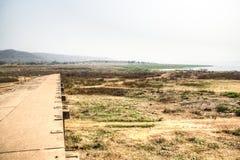 Landscape in Toko near lake Volta in the Volta Region in Ghana Stock Image