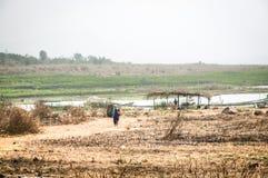 Landscape in Toko near lake Volta in the Volta Region in Ghana Stock Images