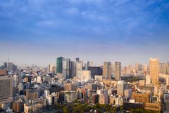 Landscape of tokyo city skyline in Aerial view with skyscraper, Stock Photos