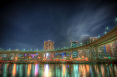 Landscape@Tokyo de la noche fotos de archivo libres de regalías
