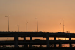 Landscape tollway Royalty Free Stock Images