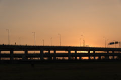 Landscape tollway Royalty Free Stock Image
