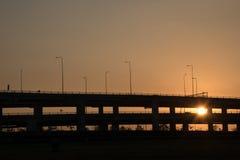 Landscape tollway Stock Images