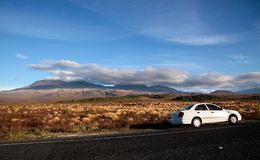 Landscape in the Tongariro National Park Stock Image