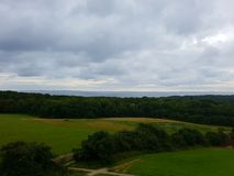 Landscape. From the top of moesgaard museum Stock Photography