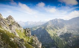 Mountains landscape. Landscape from the top of a mountain Royalty Free Stock Photo