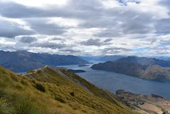 Landscape of Roys Peak, South Island of New Zealand. royalty free stock image