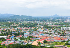 Landscape top view of city Stock Photography
