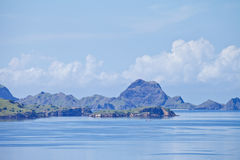 Landscape. Top view on Komodo National Park Indonisia Royalty Free Stock Photography