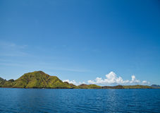 Landscape. Top view on Komodo National Park Indonisia Royalty Free Stock Image