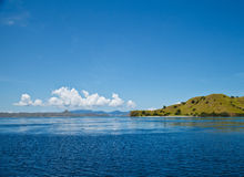Landscape. Top view on Komodo National Park Indonisia Stock Photos